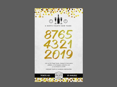 New Years2 advert typography banner design poster new years new years eve