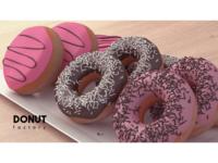 Donuts 3D Model Scene