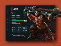 Dota 2 Heroes Page Design
