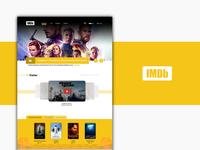 IMDb Homepage Design Concept