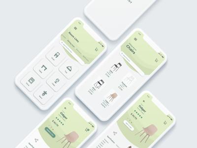 Furniture e-commerce Mobile App Design
