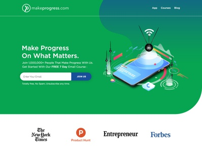 Make Progress - Web Page Design