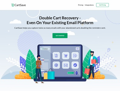 Cart Save - Web Page Design
