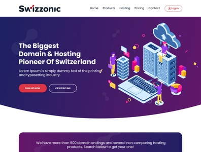 Swizzonic - Web Hosting Company Website Design ( Dark Version)