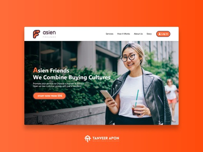 Business & Consulting Company Website Design china clean awesome retail company business web page design landing page design ui ux web design design