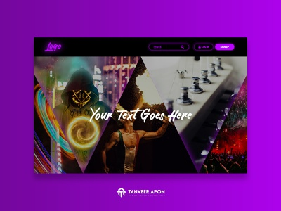 Abstract Website Design For Music & Dance Group party dance music abstract web development awesome web page design landing page design ui ux web design design