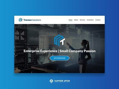 Technology Company Website Design business company it firm technology clean ui awesome web development wordpress theme design web page design ui ux web design design landing page design