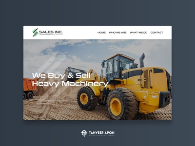 Sales Inc - Heavy Machinery Buy & Selling Company Website Design sales machine sell buy company web page design awesome landing page design ui ux web design design