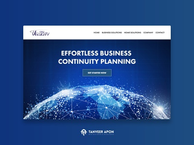 Technology Company Website Design consulting business technology modern elegant awesome web page design landing page design ui ux web design design