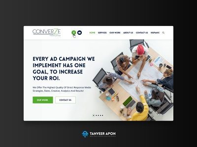 Business & Consulting Company Website Design organization company consulting business community people group awesome web page design landing page design ui ux web design design