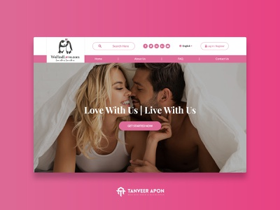 Dating Company Website Design date sex relaxation cute couple marriage love company dating web page design landing page design ui ux web design design