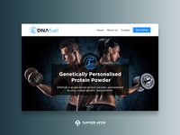 Gym & Supplement Provider - Website Design strength energy fuel dna supplement female male fitness gym clean awesome ui ux web page design landing page design web design design
