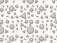 Funky Shape Pattern - Black and White