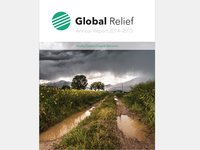 Global Relief Logo & Annual Report Cover