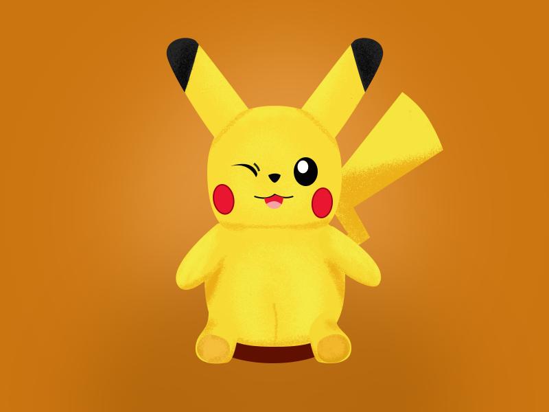 Pikachu706 people animal illustration design oneli ui
