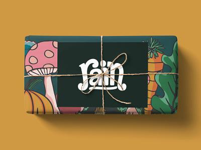 Rain Farm & Delivery farm logo handlettering branding graphic design vancouver island illustrator illustration adobe illustrator design