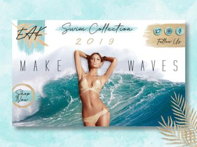 EAK Swim Collection Landing Page