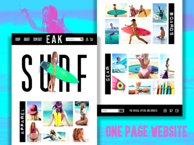 One-Page Women's Surf Website
