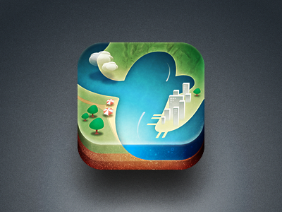 geo app icon earth geo iphone perspective city landscape