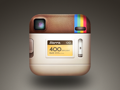 the back of the instagram icon. instagram icon ios