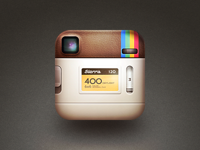 the back of the instagram icon.