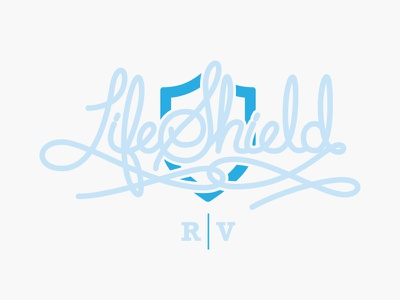 Lifeshield Shirt tri-oatmeal shirt lettering script shield directv lifeshield