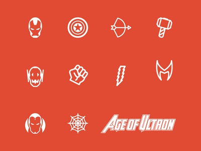 Avengers Age of Ultron Icon Set icon set scarlet witch quicksilver vision thor incredible hulk black widow hawkeye captain america iron man age of ultron avengers