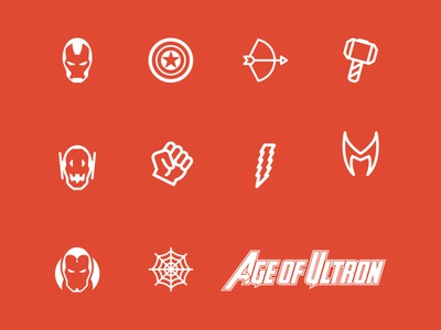 Avengers Age of Ultron Icon Set