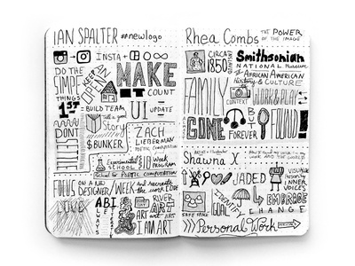 Sketchnotes from the 2017 AIGA Design Conference field notes ink medium typography drawing sketchnotes