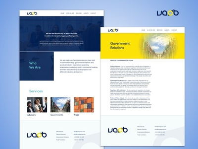 VAOB Group Website corporate identity ux website ui design