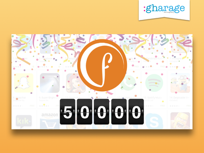 Flippy Campus 50k Downloads For gharage banner ui design milestones app downloads flippy campus
