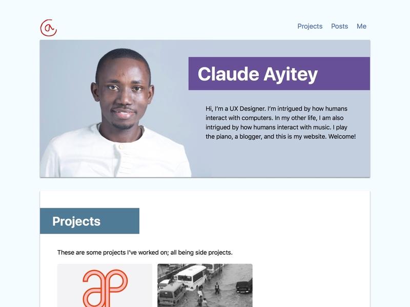 Claude Ayitey Personal Website claude ayitey design portfolio personal branding personal identity ui