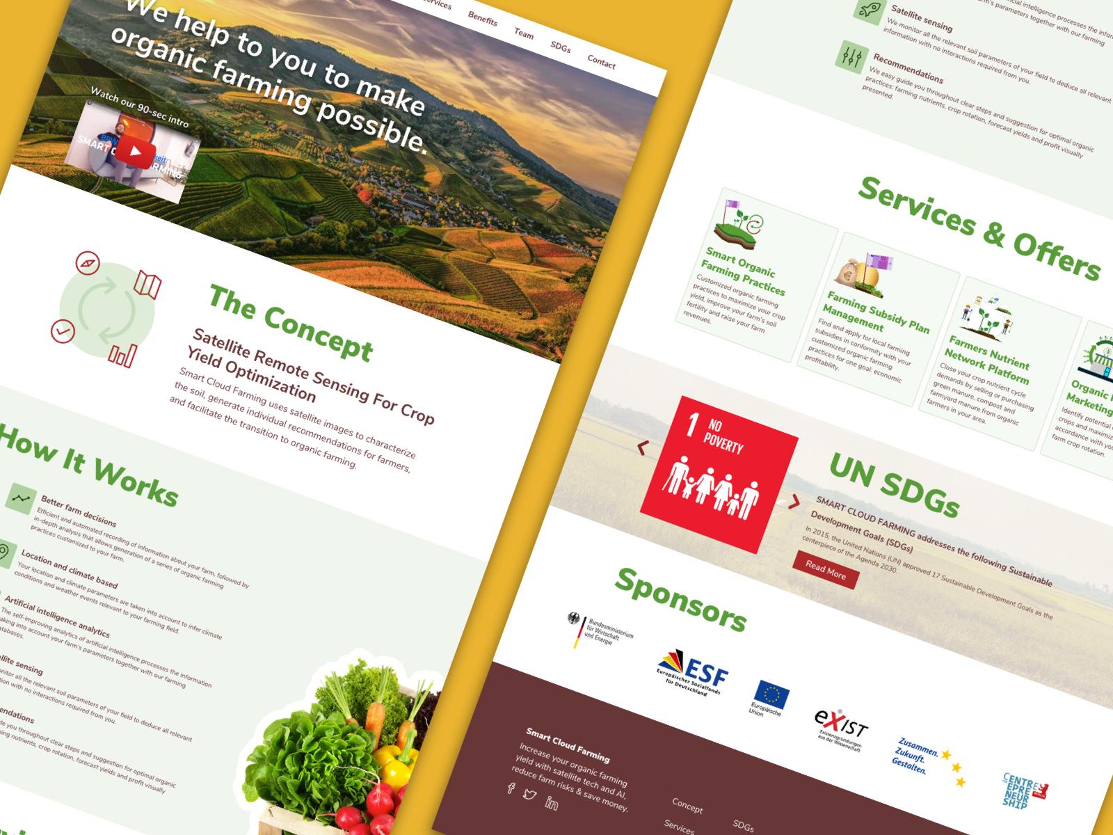 Claude ayitey smart cloud farming concept website redesign