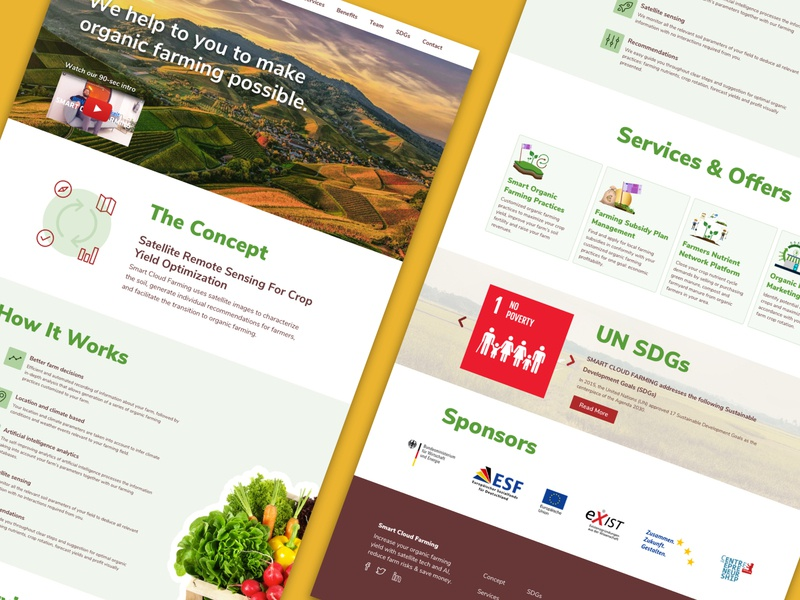 Smart Cloud Farming Website Redesign Concept website website concept re design redesign ui design