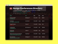 Design Conferences Directory