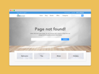 eCommerce 404 Page kimo design ui 404 ecommerce spec work