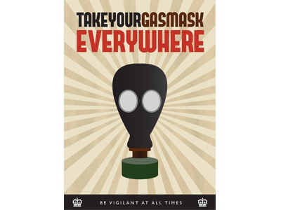 WW2 Gas Mask Poster by Garry McCormack - Dribbble