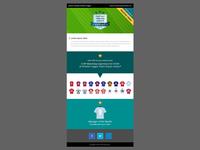 Football Fantasy League responsive email
