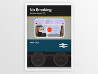British Rail - No Smoking Poster