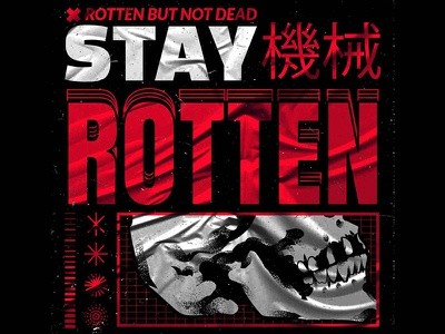 Stay Rotten adobe adobe illustrator wacom cintiq wacom tablet wacom intuos vector illustration vectorart stay rotten vector art illustration digital skull illustrator graphic design vector design illustration