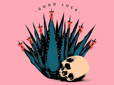 Good Luck vector art wacom wacom tablet adobe adobe illustrator texture texture brushes poster design graphic  design vector illustrator graphic design design illustration