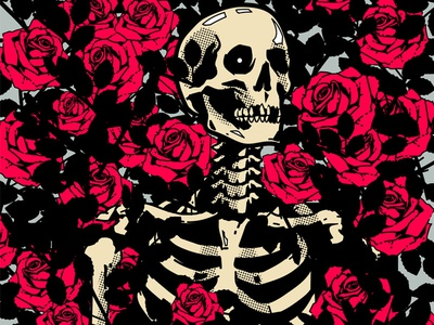 Rotten but not dead adobe illustrator adobe wacom tablet wacom digital illustration digitalart vectorart vector illustration rose skull skull art vector vector art illustrator graphic design design illustration
