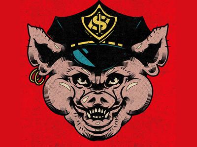 ACAB pig sticker illustrator character illustration