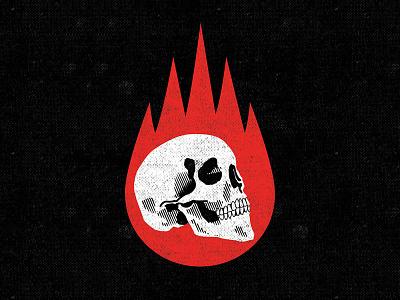 Burn it down skull logo logo design logo skull art illustration