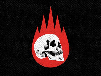 Burn it down skull logo logo design logo skull art illustration