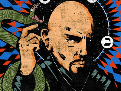 Anton portrait art poster art anton lavey anton lavey poster design graphic design illustration
