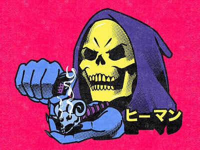 Skeletor sticker poster design illustration graphic design