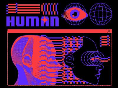 Human lofi aesthetic illustration graphic design