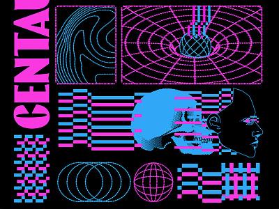 Centauri III retro lofi aesthetic graphic design illustration