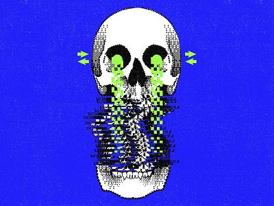 Glitch glitch skull glitch effect illustrator graphic design illustration